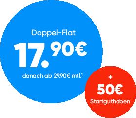 Alle Doppel Flats 6 Monate nur 17,90 €