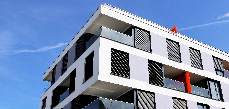 Symbolbild Gebäude mit Glasfaseranschluss
