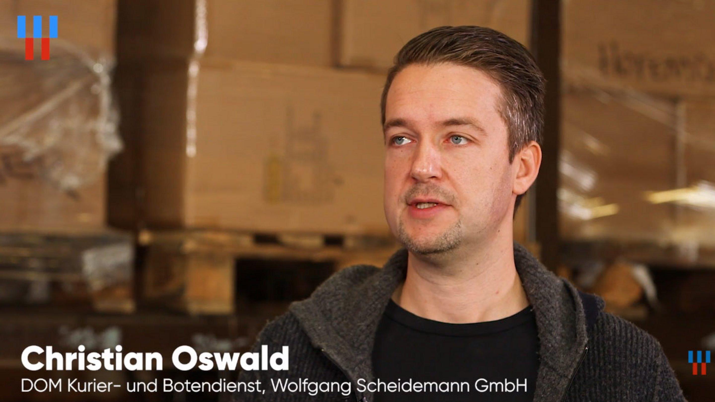 Screenshot aus unserem Videointerview mit Christian Oswald von DOM Kurier