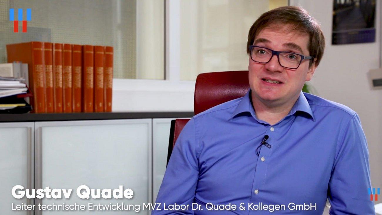 Screenshot von unserem Videointerview mit Gustav Quade vom MVZ Labor Dr. Quade & Kollegen