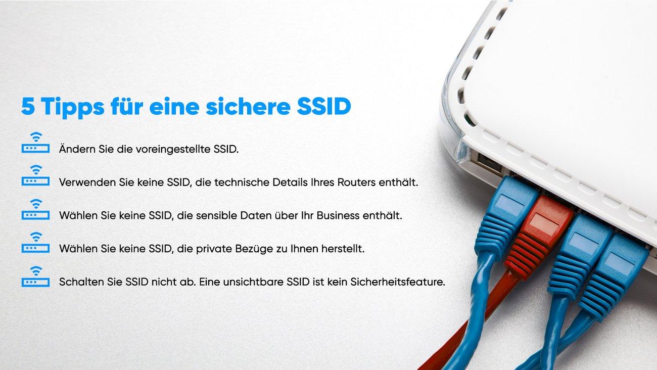 Symbolbild für sichere SSID