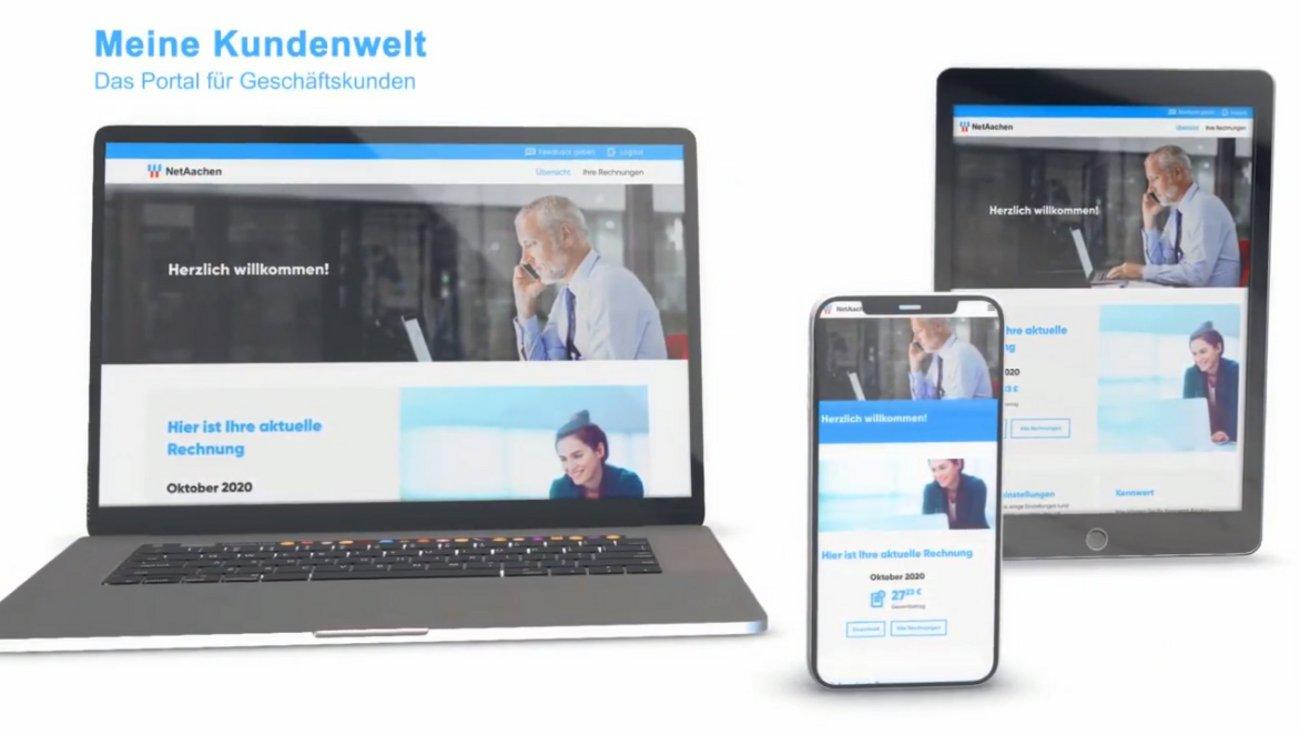 Screenshot von der NetAachen-Kundenwelt